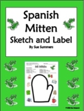 Spanish Winter Mitten Sketch & Label - Mi Miton