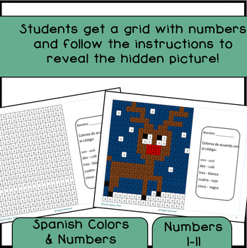 Spanish Winter Mystery Pictures! Color By Number / Grid