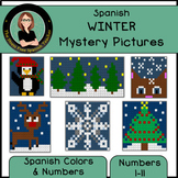 Spanish Color By Number Mystery Pictures for Winter!
