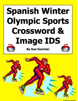 Spanish Winter Olympic Sports Crossword Puzzle and Vocabulary