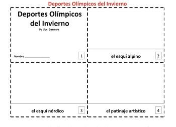 Spanish Winter Olympic Sports - Deportes Olimpicos 2 Emergent Readers