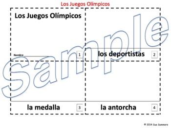 Spanish Winter Olympics - Juegos Olimpicos 2 Emergent Readers