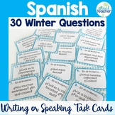 Spanish Task Cards Winter Questions Speaking or Writing Activity