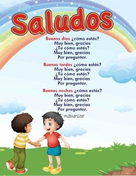 Greeting song teaching resources teachers pay teachers spanish greeting song saludos spanish greeting song saludos m4hsunfo
