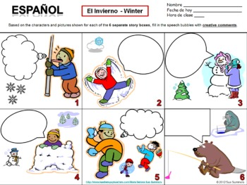Spanish Winter Speech Bubble Creative Writing