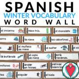 Spanish Winter Vocabulary Bulletin Board - Spanish Word Wa