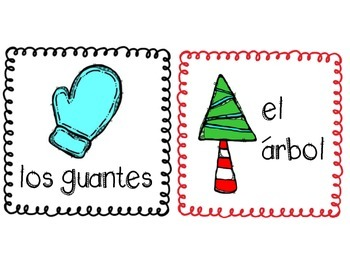 Spanish Winter Vocabulary Posters