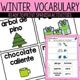 Spanish Winter Vocabulary and Activities! / Vocabulario de