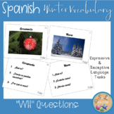 "Spanish Winter Vocabulary with ""WH"" and Yes/No Questions"