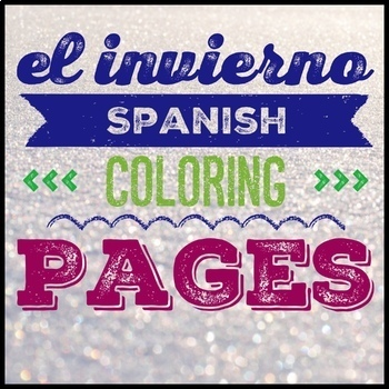 Spanish Coloring Pages, Spanish Winter Weather, el invierno