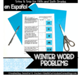 Winter Math Activity | Solve and Snip® | Spanish Word Prob