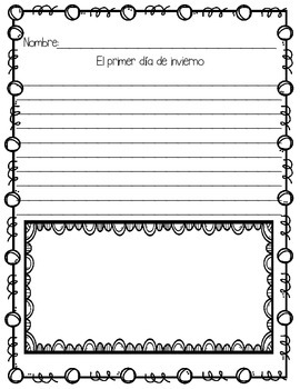 In Spanish / Winter Writing {Mis Narraciones de Invierno}
