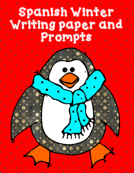 Invierno:  Winter Writing Prompts for the Spanish Alphabet