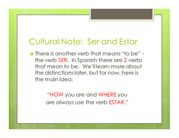 Spanish Estar Notes