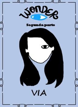 Spanish Wonder Book Study-La leccion de August-Via