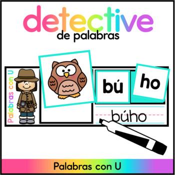 Spanish Word Building Mats - Palabras con U