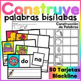 Spanish Word Building Task Cards - Bisílabas