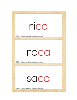 Spanish Word Family Cards