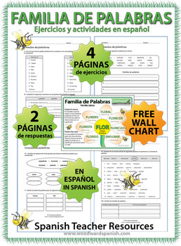 Spanish Word Family Worksheets Familia De Palabras