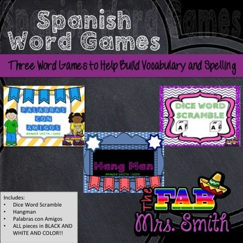 Spanish Word Games Bundle