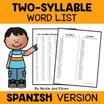 Spanish Teacher and Student Word Lists Bundle