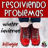 Spanish Word Problems: Winter Addition & Subtraction | Bil