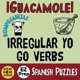 Spanish Puzzles Irregular Spanish GO Verbs. Spanish Verbs