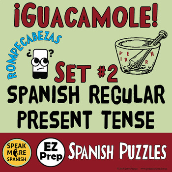 Spanish Word Scramble *More Regular Present Verbs* Present