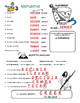 Spanish Word Puzzles for Regular Present Tense Verbs. Pres