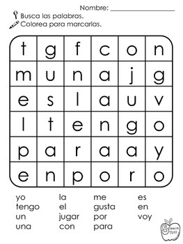 Spanish Word Search