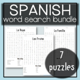 Spanish Worksheet - Word Search Bundle