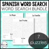Spanish Worksheet - Word Search Bundle