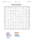 4 Spanish Word Search Puzzles with keys