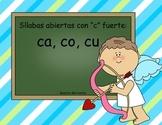 """Spanish Word Sort: Hard """"C"""" - Silabas abiertas con """"C"""" Fue"""