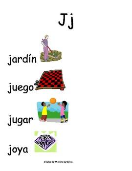 Spanish Word Wall-Jj