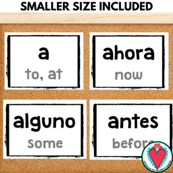 High Frequency Words in Spanish WORD WALL