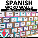Spanish Word Wall - Spanish Vocabulary - High Frequency Words
