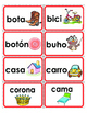 Spanish Word Wall A-Z word cards with pictures & Red border (Gomez & Gomez)!