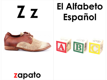 Spanish Word Wall Alphabet Cards - El Alfabeto