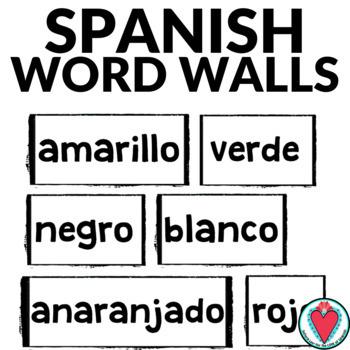 Spanish Animal Word Wall - Los Animales