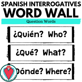 Spanish Word Wall Bundle - Spanish High Frequency Words, Spanish Cognates