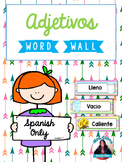Spanish Word Wall Cards {Adjetivos} ESPAÑOL