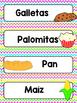 Spanish Word Wall Cards {Alimentos} ESPAÑOL