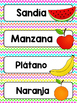 Spanish Word Wall Cards {Alimentos} ESPAÑOL