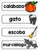 Spanish Word Wall Cards {Halloween} ESPAÑOL Día de brujas