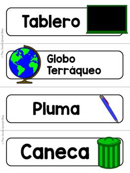 Spanish Word Wall Cards {La Escuela} ESPAÑOL