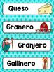 Spanish Word Wall Cards {La Granja} ESPAÑOL