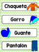 Spanish Word Wall Cards {La Ropa} ESPAÑOL