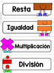 Spanish Word Wall Cards {Las Matemáticas} ESPAÑOL