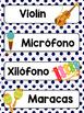 Spanish Word Wall Cards {Los Instrumentos Musicales} ESPAÑOL